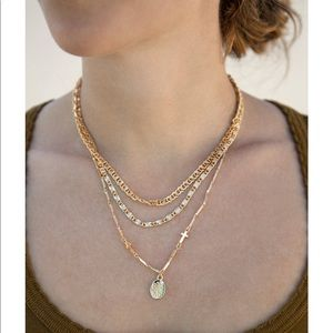 Ettika Mixed Layers 18k Gold Plated Necklace